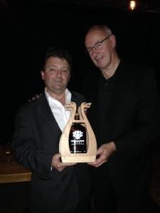 Gerald Glavota (g2whisky) holding the Loki with Marc Laverdiere (Highland Park & Macallan Ambassador)