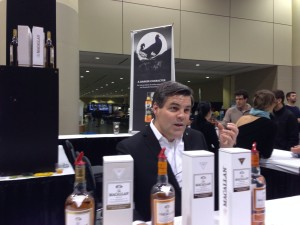 Dan Volway discussing the Gold, Amber and Sienna from the Macallan 1824 Series